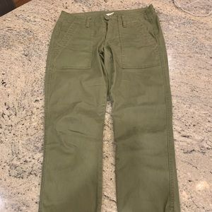 Cabi Olive Green Chino Track Pants